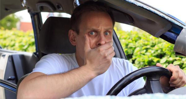 Choqué dans la voiture